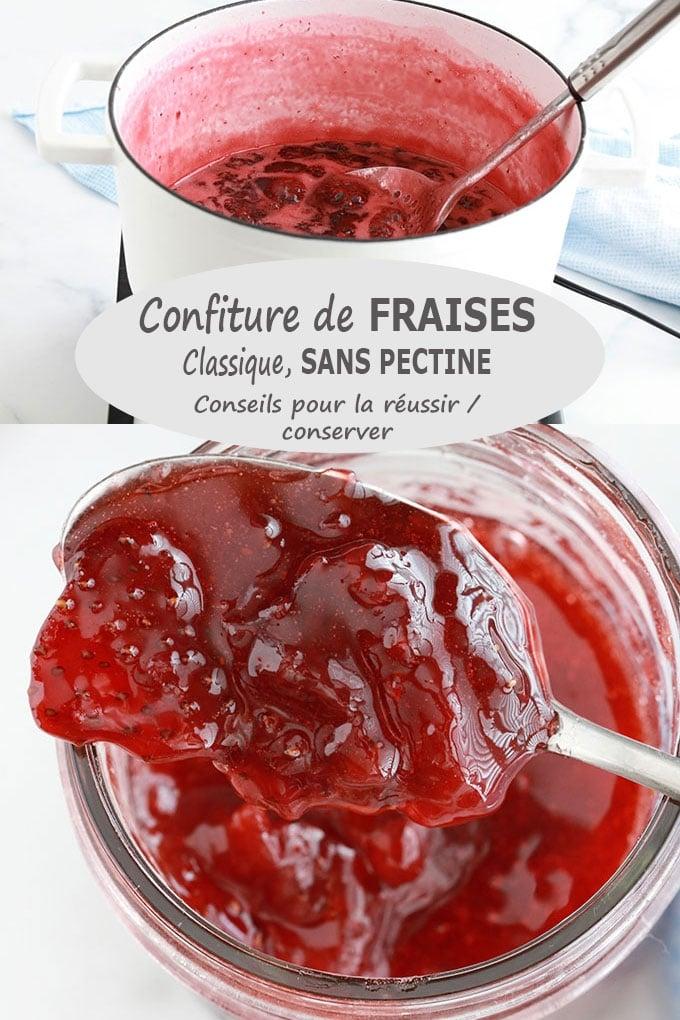 Confiture de fraises traditionnelle, recette facile