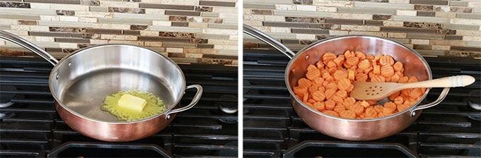 Carottes vichy creme - Etape faire revenir carottes beurre
