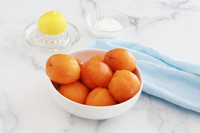 Ingrédients du coulis d'abricots