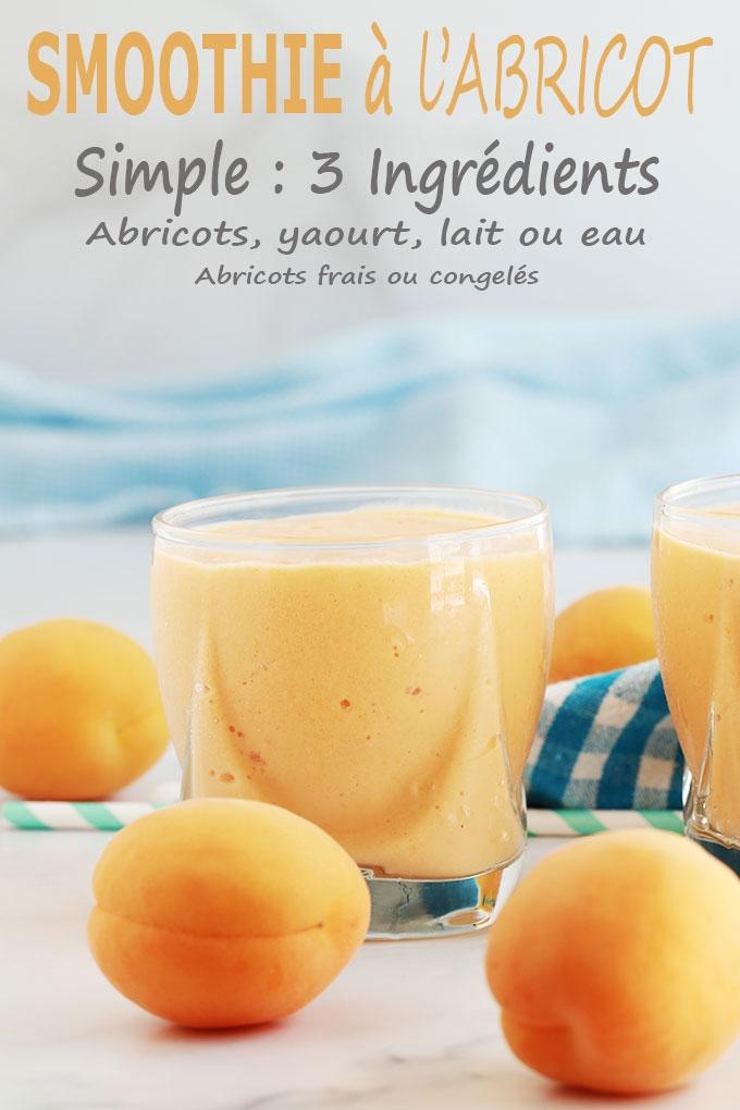 Smoothie aux abricots et yaourt