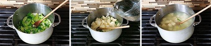 Cuisson soupe poireaux pommes de terre