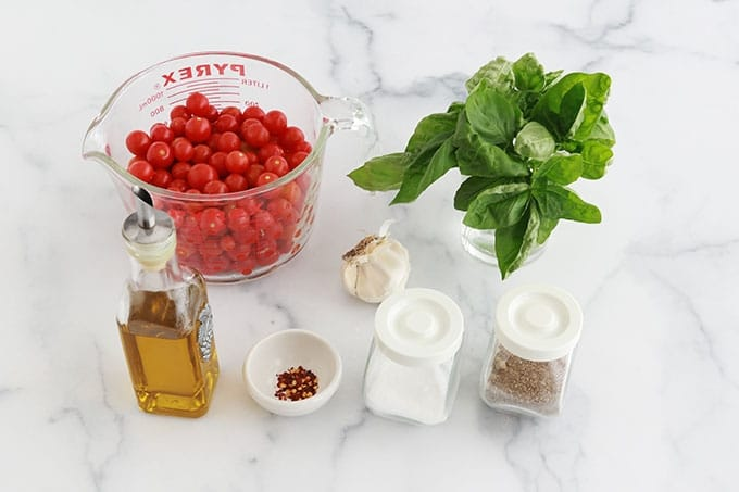Ingredients sauce tomates cerises express