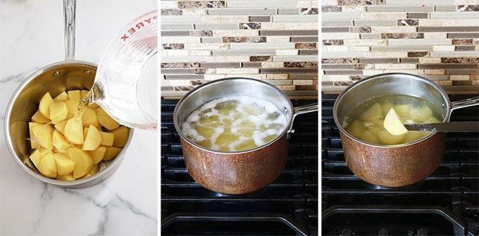 Cuisson des pommes de terre a l eau salee