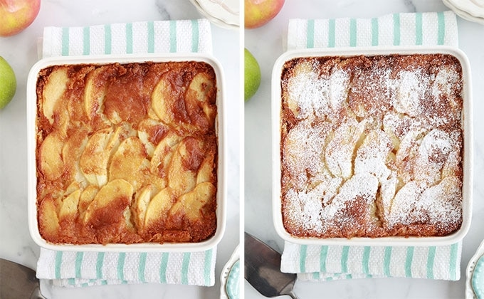 Gateau aux pommes cuit avec ou sans sucre glace
