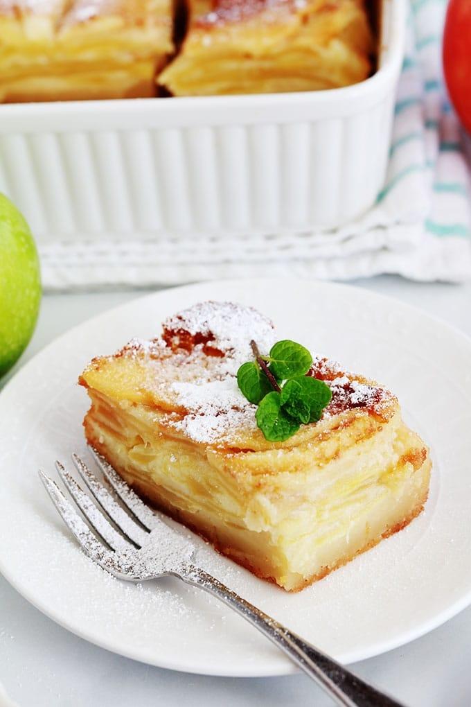 Morceau de gateau aux pommes bolzano apple cake