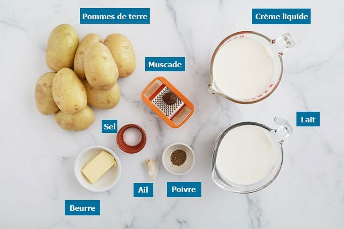 Ingredients du gratin dauphinois traditionnel