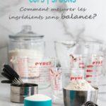 Tasses et cuilleres CUPS SPOONS comment mesurer les ingredients sans balance