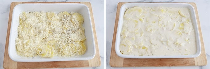 Montage - Etapes gratin dauphinois au fromage